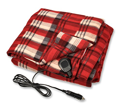 Camco Polar Fleece Heated Blanket for Cars, Trucks, and RVs - Power Cord Plugs into 12V Vehicle Power Outlet  ...