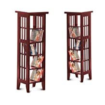 Cherry Finish Book Shelf / Case DVD / CD Rack by The Furniture Cove