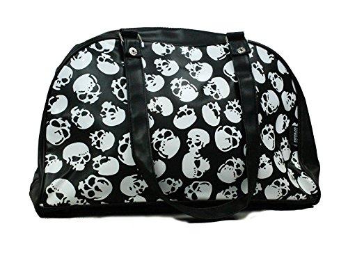 Rockbilly Large Vinyl Mini Skull Bowling Bag Black
