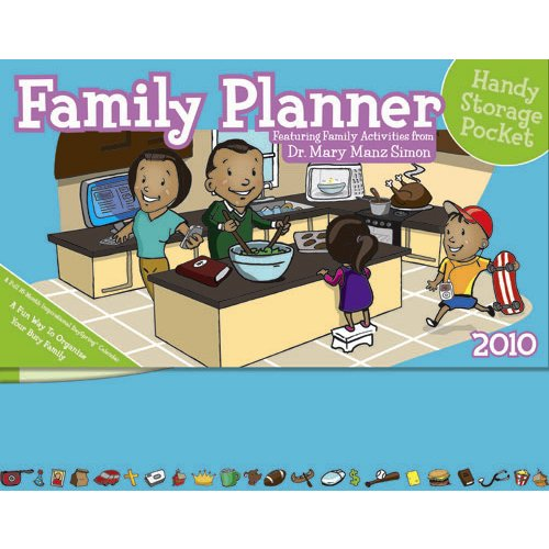 Dr. Mary Manz Simon Family Planner 2010 Panoramic Calendar