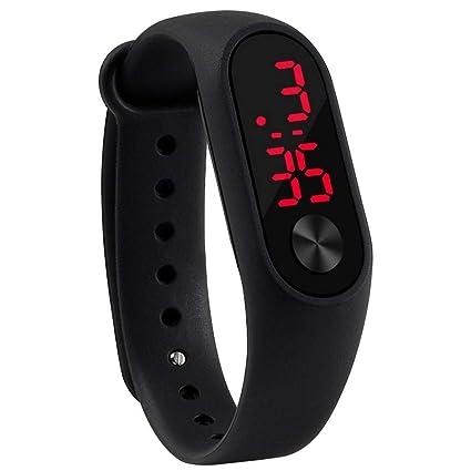 JEAMS Relojes Led Reloj Digital para Mujer Yoga Reloj Deportivo De Silicona Reloj para Niños Relojes