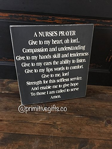 A nurses prayer, sign
