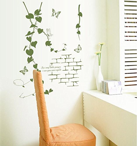 UberLyfe Tree Leaves Wall Sticker (Wall Covering Area: 85cm x 66cm)