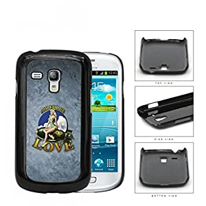 Air Force Love with Retro Pin up Girl on Plane and Grunge Background Samsung i8190 Galaxy S3 (MINI) Hard Snap on Plastic Cell Phone Case Cover hjbrhga1544