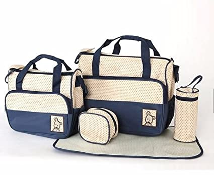 4f824370ecbea 5 in 1 Multipurpose Baby Nappy Changing Bag Set for Moms by Hugz | Spacious  & Practical Diaper Bags ...