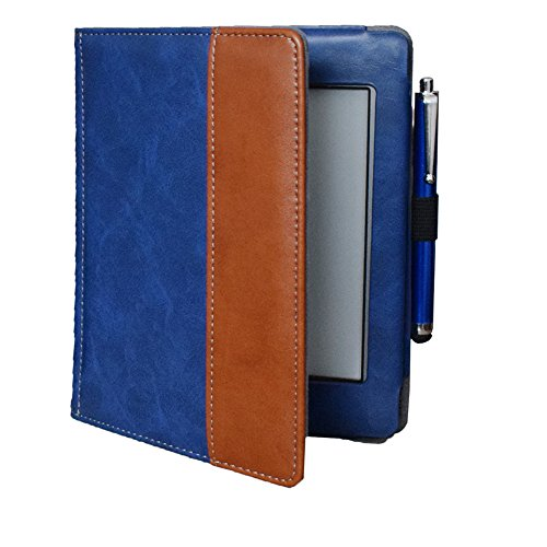 Kindle d01200 case Flip Cover for Kindle Touch (2012 Old Model) case, Folio Soft Cover for D01200 Kindle Touch ebook Reader Book case Pouch Bag Sleeve (Blue) ()