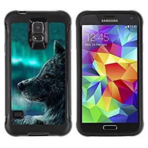 LASTONE PHONE CASE / Suave Silicona Caso Carcasa de Caucho Funda para Samsung Galaxy S5 SM-G900 / Wolf Blue Sky Wild Dog Animal Forest Fairytale