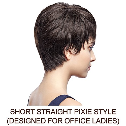 SLEEK 5\' Cute Short Pixie Wigs with 100%