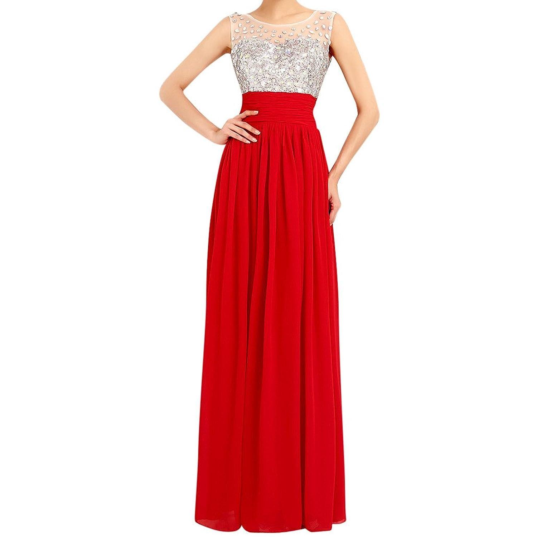 MissFox Damen Mixi Kleid mit Pailletten besetzt