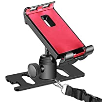 Neewer for DJI Mavic Pro 4-12 inches Cellphone Tablet Stand Holder, Remote Controller Extender Bracket Mount to Clip Smart Phone iPad Galaxy Tablets,360 Degree Rotatable,Aluminum Alloy (Red and Black)