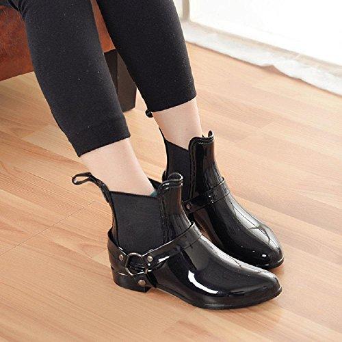 lluvia Oto botas Black invierno moda femenino o de e 0rwqA0