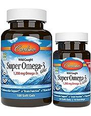 Carlson Labs Wildfang-Super Omega-3 Gems, 1200 mg - 100 + 30 softgels