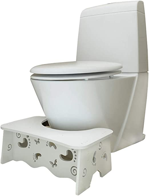 Toilet Aid Squatty Step Potty Help Prevent Constipation Bathroom Foot Stool Kids