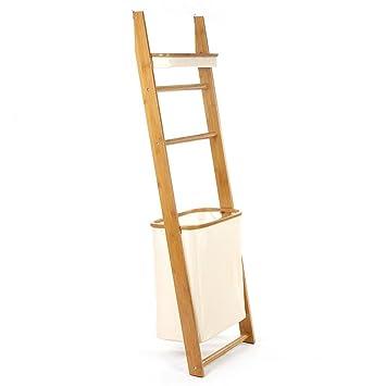 LPZ-Shelving Einfaches stehendes Regal-Badezimmer-Holz-Organisations ...