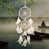 Dream Catcher Decor, Marsway 2016 Creative India Style Dreamcatcher With Feather Wall Hanging Hanging Ornament Craft Gift White