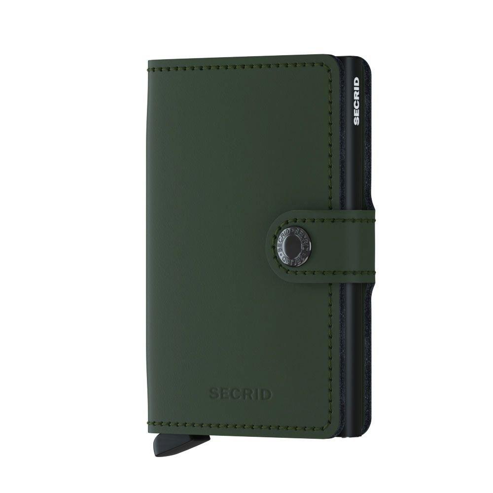 1b4914e34288 SECRID - Secrid Men's Mini wallet Genuine Matte Leather With RFID Safe Card  Case for max 12 cards (Matte Green Black)
