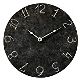 Black Metal Rustic Wall Clock 10-inch – Silent Non Ticking Gift for Home/Office/Kitchen/Bedroom/Living Room For Sale