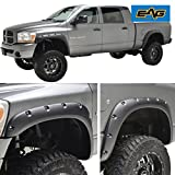 EAG Rivet Style Bolt on Pocket Fender Flares for 02-08 Dodge Ram 1500 / 03-09 Dodge Ram 2500/3500 HD