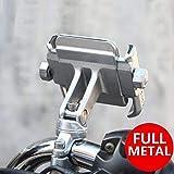 NikoMaku Motorcycle Cell Phone Holder Bike Phone Mount Handlebar Holder 360° Adjustable Compatible