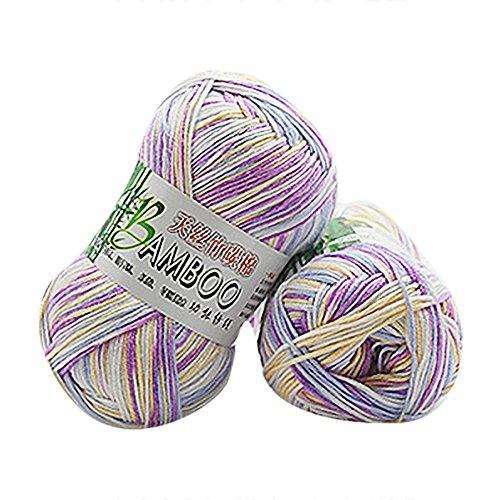 - Clearance Sale! Yarns for Knitting Crochet Craft,KFSO Hand Knitting Knicker Bamboo Cotton Yarn Crochet Soft Scarf Sweater Hat Yarn Knitwear Wool (G)