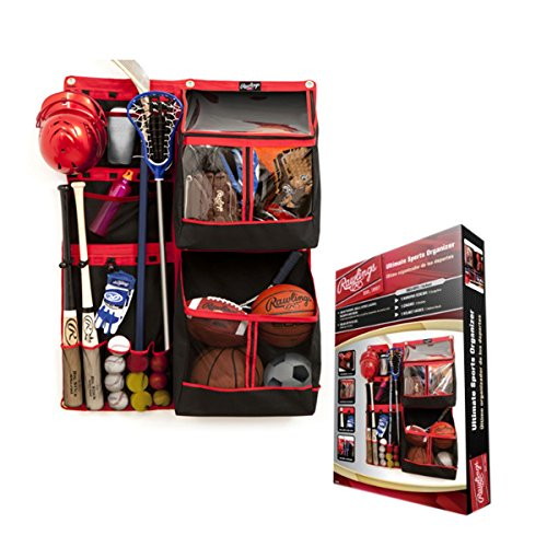 Rawlings Ultimate Sports Equipment Organizer FSSB36 Bats, Balls, Sticks, Gloves, Helmets