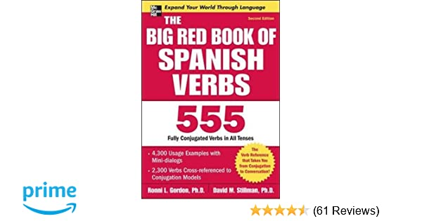 Amazon com: The Big Red Book of Spanish Verbs, Second