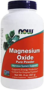 NOW Magnesium Oxide Powder, 8-Ounce (Pack of 2)