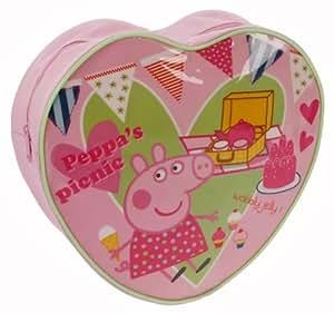 Trade Mark Collections - Mochila con forma de corazón y diseño de Peppa Pig, color rosa