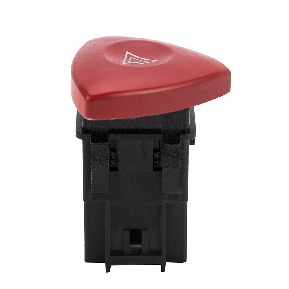 Oceanheart Peligro de Advertencia Bot/ón Rojo ON//Off Interruptor de Bot/ón de Coche luz de Emergencia Flash
