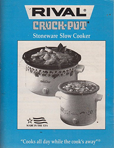 Rival Crock Pot Stoneware Slow Cooker Cookbook -- written in English and Spanish