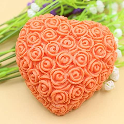 Pinkie Tm supernova sale Handmade soap silicone mold ,heart flower blossoming candle mould,moulds - Flower Silicone Candle