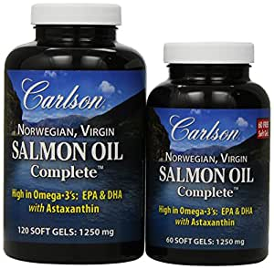 Carlson Labs Salmon Oil Complete Soft Gels, 180 Count
