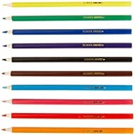 School Smart Colored Pencils - 7 inches - Pack of 250 - 10 Assorted Colors