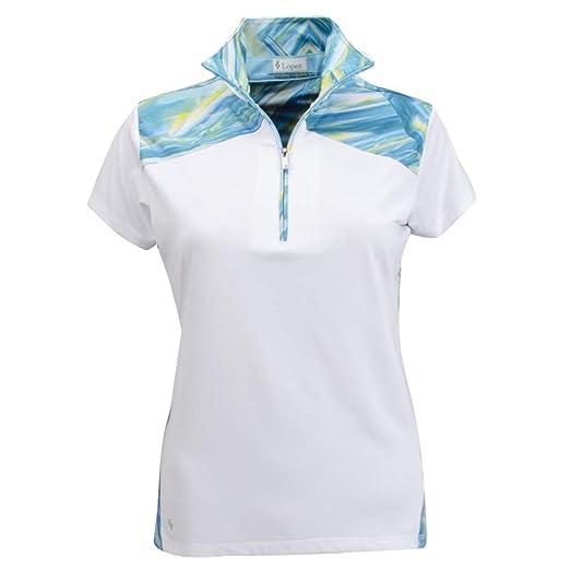 d2f2c0cc Amazon.com : Nancy Lopez Golf Women Hologram Short Sleeve Golf Polo (Plus  Size) : Clothing