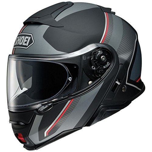 Orange Cycle Parts Full and Open Face 2-in-1 Motorcycle Street Bike Helmet Neotec II AV. SP18 by Shoei (Medium, Excursion TC-5, Black Grey Red)