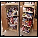 Amazon Com Shelf On Wheels Expandable Kitchen Pantry