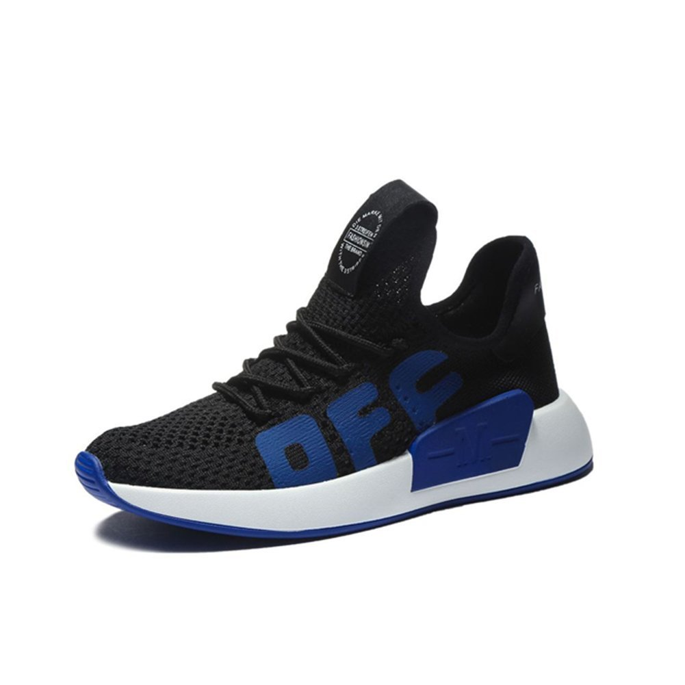 Damenschuhe Schuhe Neue 2018 Neue Schuhe Sommer Herbst Stricken Flache Ferse Sneakers, Breathable Freizeitschuhe Mode, Lace-Up Light Sohlen Damen Schuhe,B,34 - 2dc6d3