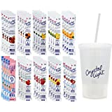 Crystal Light On The Go Drink Mix Assortment - 40 Count Variety, 4 Sugar-Free Fruit Flavored Packets of Each Flavor- with Tumbler & Straw