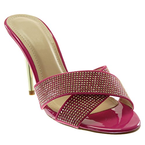 Slip 10 Scarpe Incrociate Tanga A Ciabatte Decollette 5 Fushia Donna Chic Moda Stiletto Spillo Angkorly Pompa Cm Fantasia Tacco Da Strass on xq6UwAE8