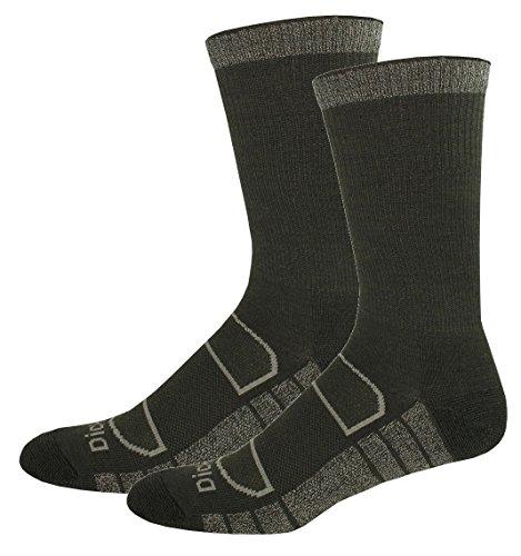Wool Light (Dickies Men's All Season Merino Wool Light Cushion Crew Socks, Moss, 4 Pair)