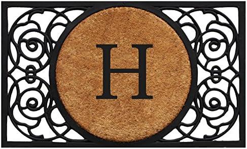 Calloway Mills 180032236H Armada Circle Monogram Doormat 22 x 36 Letter H