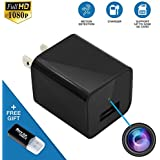 Night Vision USB Charger Hidden Camera - No WiFi Needed - Motion Detection Spy Camera Infrared Spectrum - Spy Camera USB Adapter 1080p - Nanny Cam - Office - Home Security HD Camera
