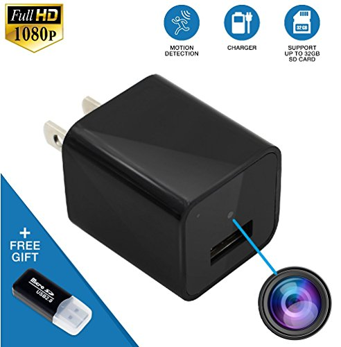 Night Vision USB Charger Hidden Camera - No WiFi Needed - Motion Detection Spy Camera with Infrared Spectrum - Spy Camera USB Adapter 1080p - Nanny Cam - Office - Home Security HD Camera
