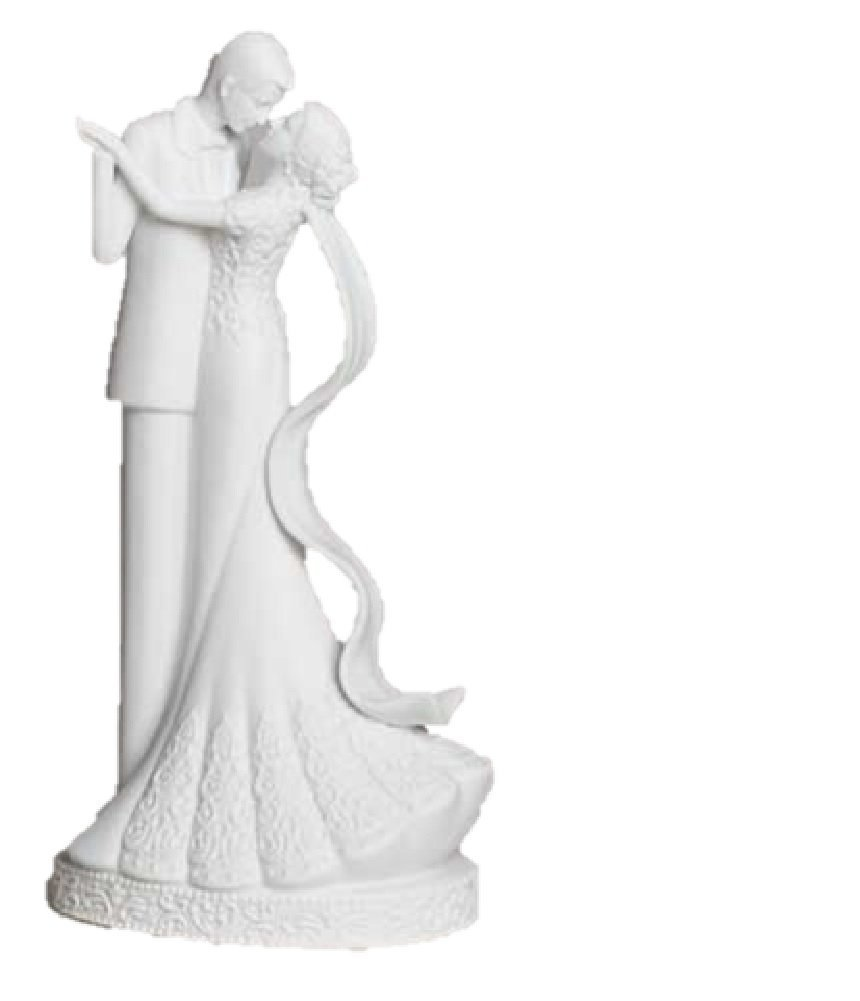 to Have and to Hold Couple Bride and Groom Porcelain Cake Topper