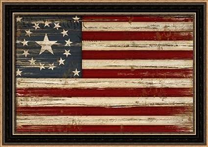 8db6503c2da3 Amazon.com  American Flag - Framed Art Print - 12x18 Fine Art Print ...