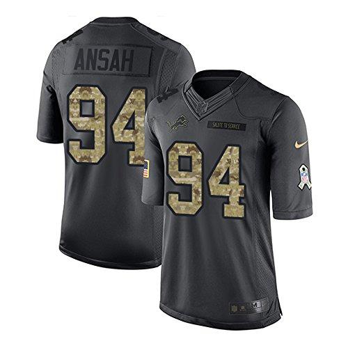 Ziggy_94#_Mens_Ansah Detroit Salute_to_Service Jersey Black X-Large (Detroit Salute To Service compare prices)
