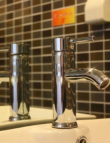shengbaier Zeitgenössische verchromt Messing ein Loch ein Handgriff Waschbecken Wasserhahn (kurz)