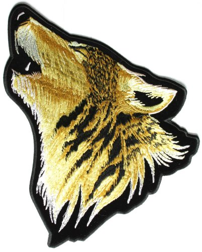 Howling Wolf Large Patch - By Ivamis Trading - 11x9.5 inch