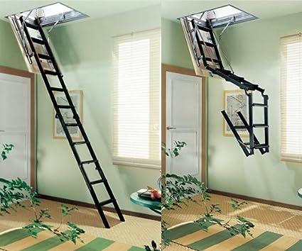 Señor paso escalera retráctil 4 P trampilla 90 x 70 cm.: Amazon.es: Bricolaje y herramientas
