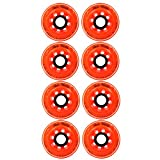 Labeda Inline Roller Hockey Skate Wheels Addiction Orange 72mm SET OF 8